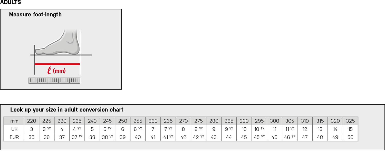 Grishko Ballet Softshoe Sizing Chart